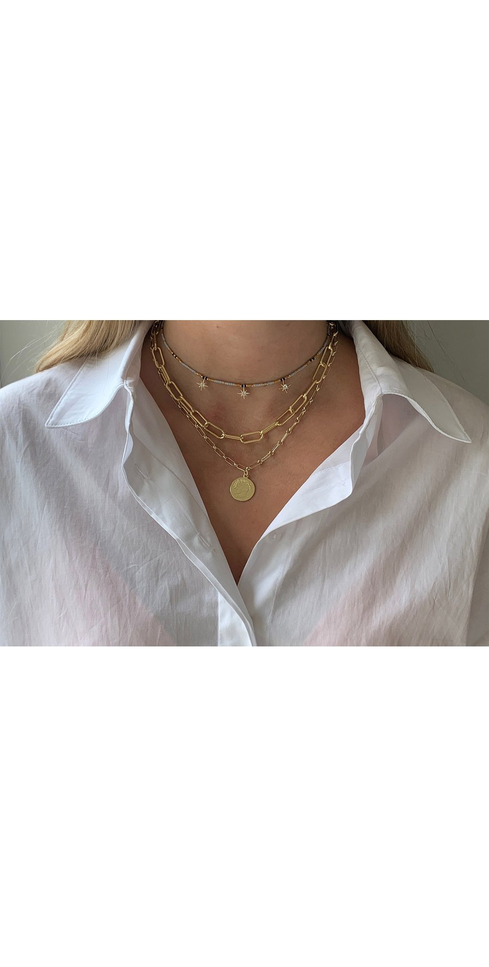 Hora Three Layer Necklace Set main image