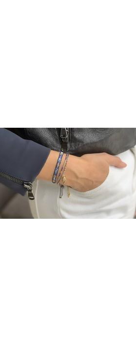 Boho Betty Verona Two Layer Bracelet Stack  Navy Blue Gold