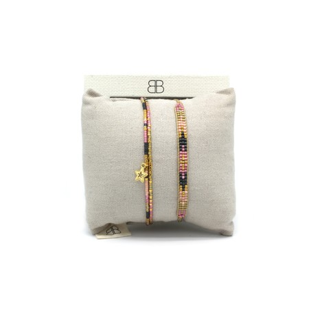Boho Betty Verona Two Layer Bracelet Stack  - Multicoloured