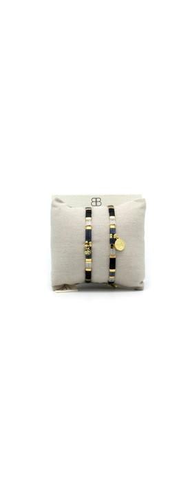 Boho Betty Dubai Two Layer Bracelet Stack Midnight