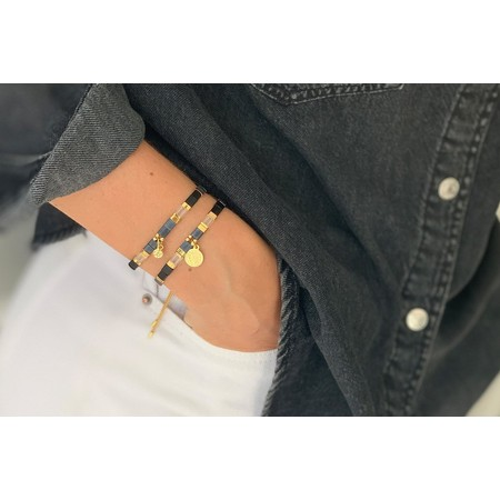 Boho Betty Dubai Two Layer Bracelet Stack - Blue