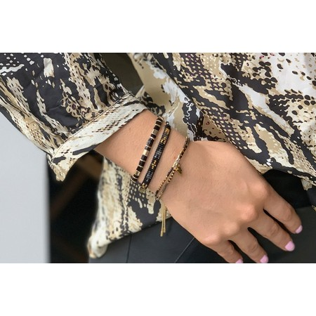 Boho Betty Rethymno Three Layer Bracelet Stack - Multicoloured