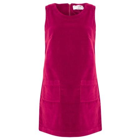 Amazing Woman  400 Velvet Pinafore - Pink