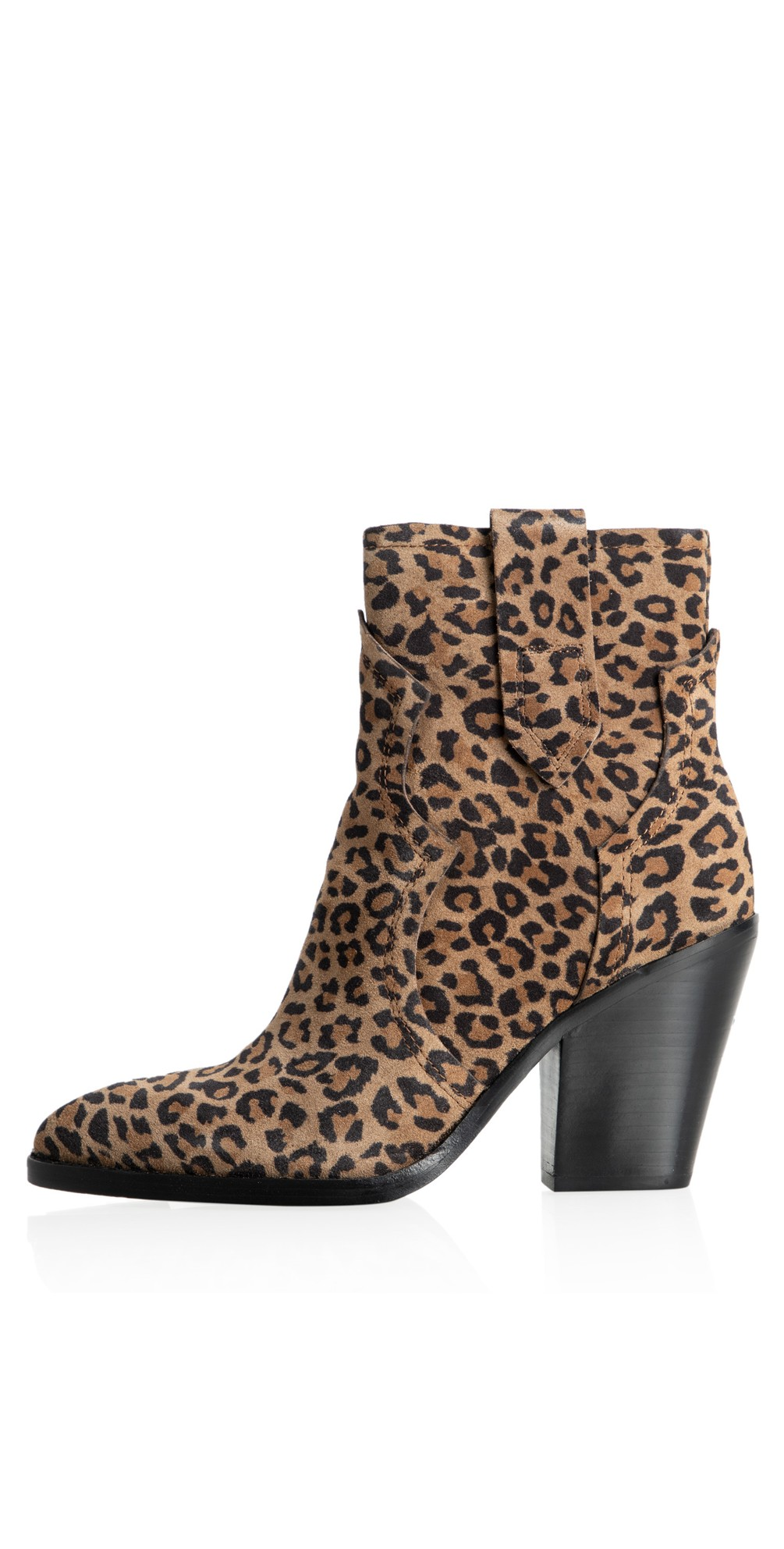 Esquire Leopard Print Heeled Boot main image