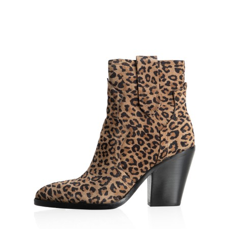Ash Esquire Leopard Print Heeled Boot - Brown