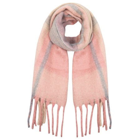Gemini Label Accessories Kimber Supersoft Check Scarf - Pink
