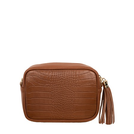 Gemini Label Bags Connie Croc Cross Body bag - Brown