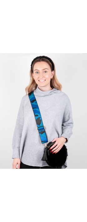 Kris-Ana Greta Bag Strap Camo Cobalt
