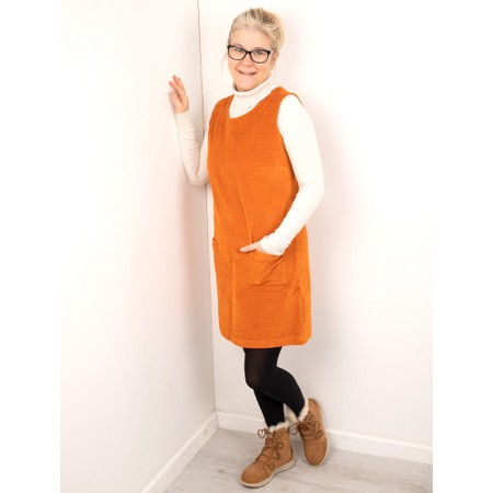 Amazing Woman  400 Velvet Pinafore - Orange