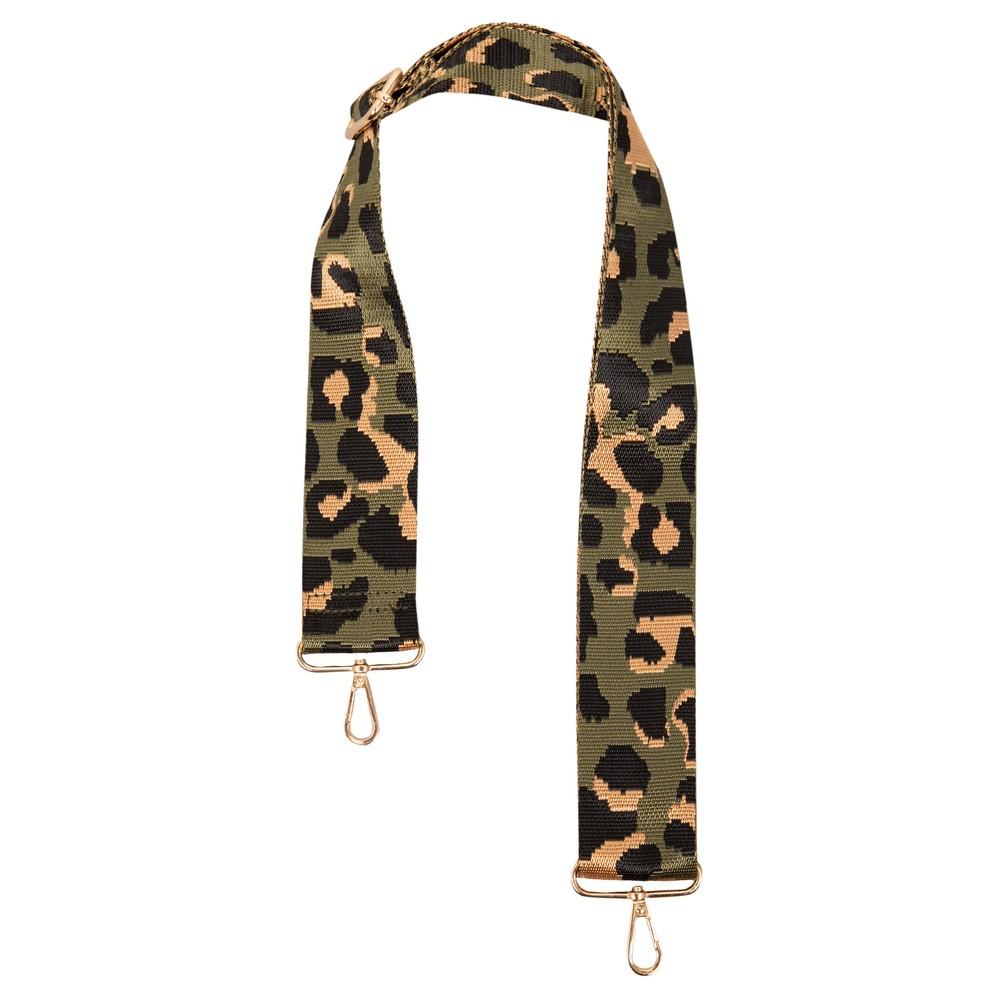 Kris-Ana Greta Bag Strap Cheetah Green