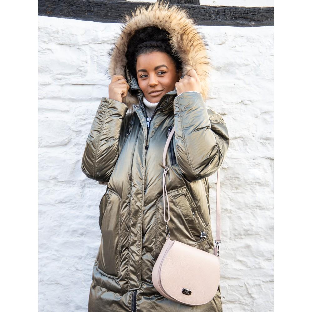 Gemini Label Bags Amber Leather Shoulder bag SmokeRose