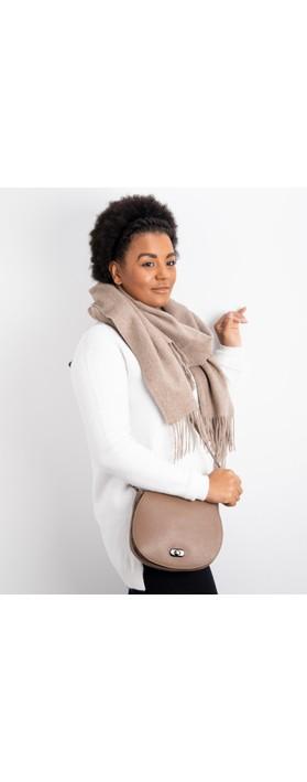 Gemini Label Bags Amber Leather Shoulder bag Dark Taupe