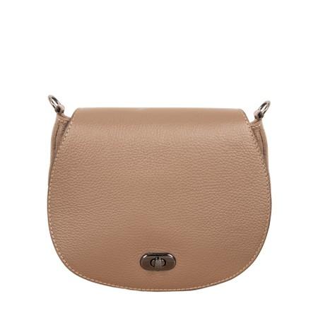 Gemini Label Bags Pietra Leather Shoulder bag - Beige
