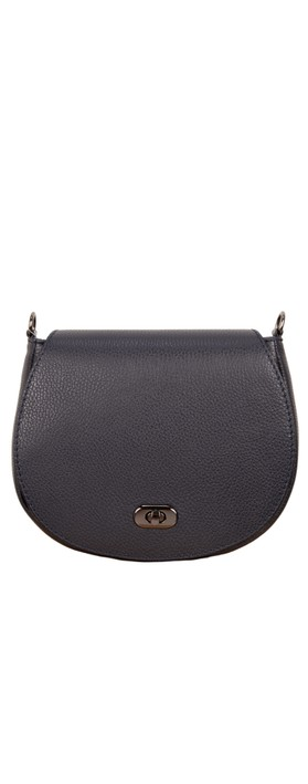 Gemini Label Bags Amber Leather Shoulder bag Navy