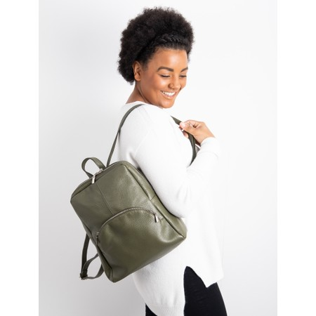 Gemini Label Bags Salerno Leather Backpack - Green