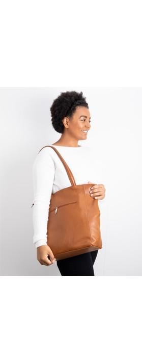 Gemini Label Bags Turin Tote Bag Dark Tan