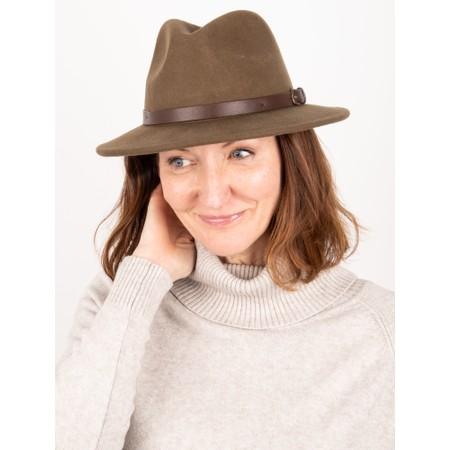 Failsworth Adventurer Wool Felt Fedora Hat - Beige