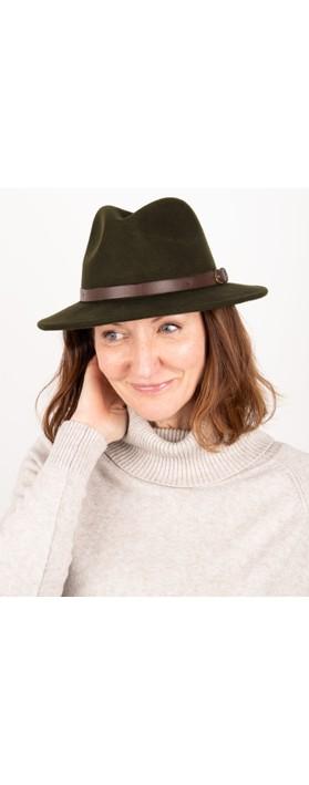 Failsworth Adventurer Wool Felt Fedora Hat Turf