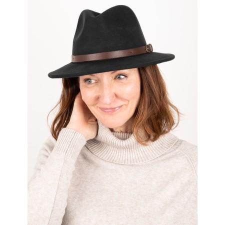 Failsworth Adventurer Wool Felt Fedora Hat - Black