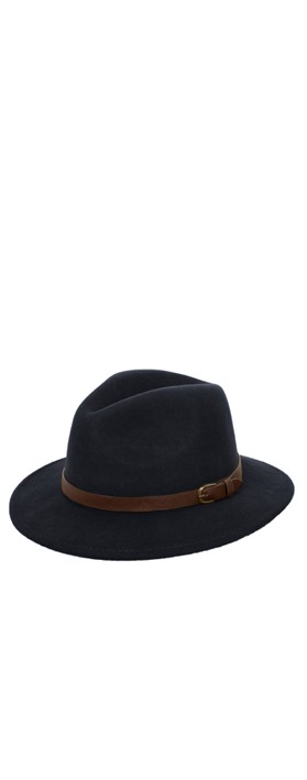 Failsworth Adventurer Wool Felt Fedora Hat Navy