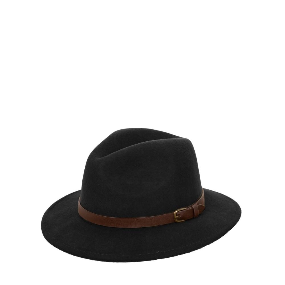 Failsworth Adventurer Wool Felt Fedora Hat Black