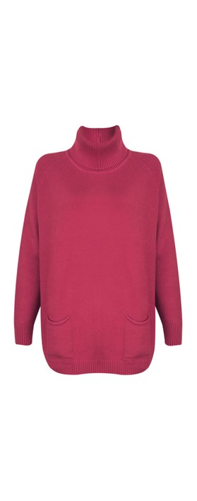 Amazing Woman Anna Two Pocket Relaxed Fit Jumper Rose