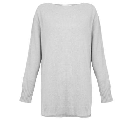 Amazing Woman Fillipa Round Neck Cashmere Mix Knit - Grey