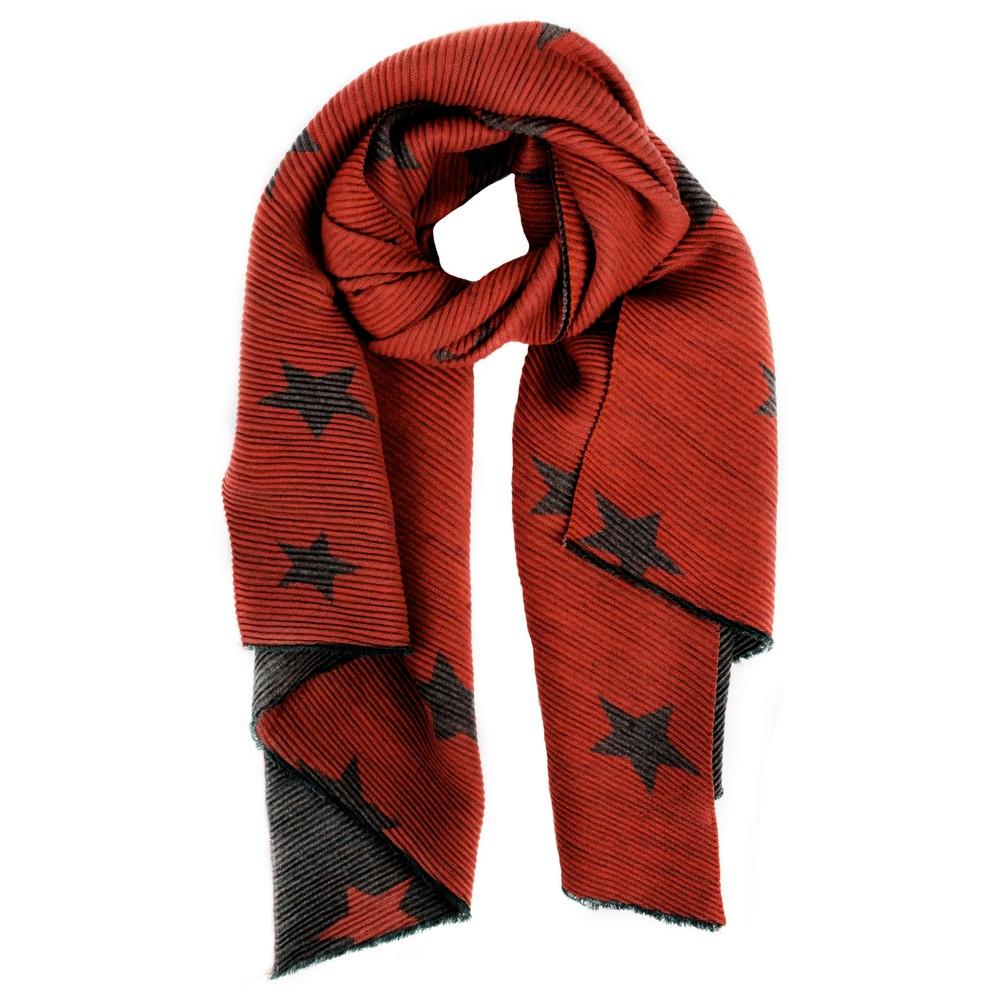 Gemini Label Accessories Revo Stars Reversible Scarf Red