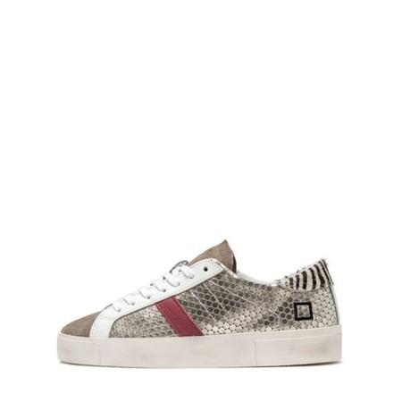 D.A.T.E Hill Low Pong Low Top Sneaker - Metallic