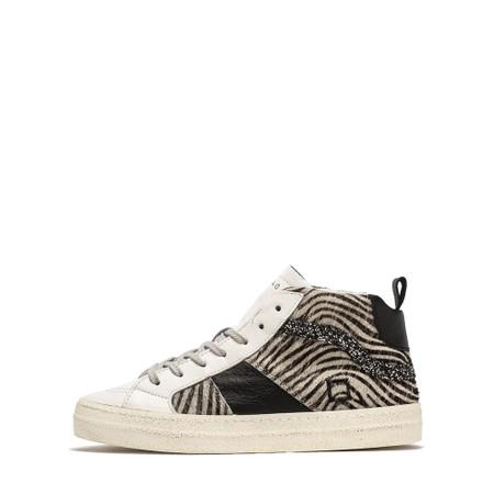 D.A.T.E Hawk Animal Print Hi Top Sneaker - Multicoloured