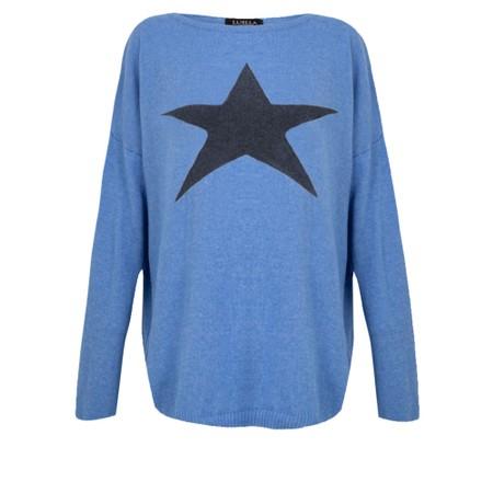 Luella Classic Star Cashmere Blend Jumper - Blue