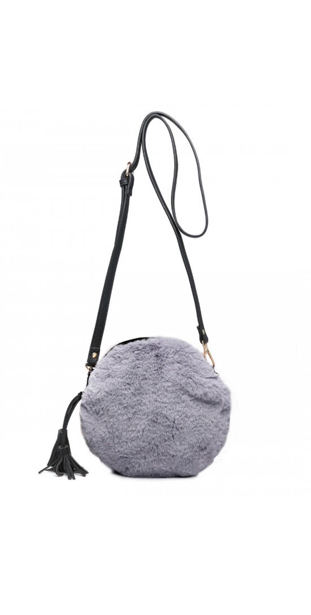Nala Faux Fur Round Bag main image