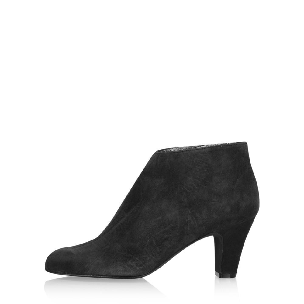 Gemini Label Shoes Xelipe Black Suede Ankle Boot Black