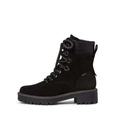 Tamaris  Annika Suede Hiker Boot - Black