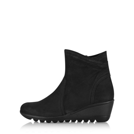 Gemini Label Shoes Susan Casual Wedge Ankle Boot - Black