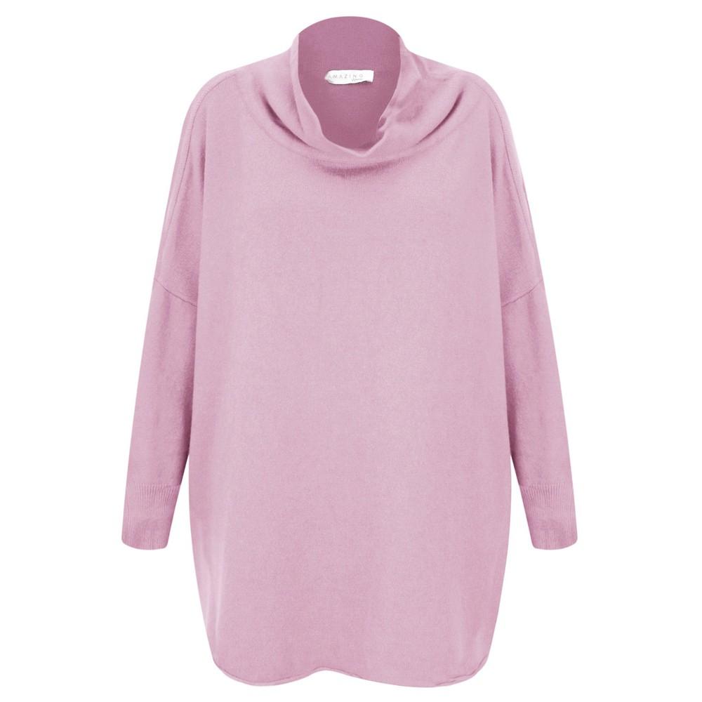 Amazing Woman  Vera Oversized Knit Jumper Pale Pink