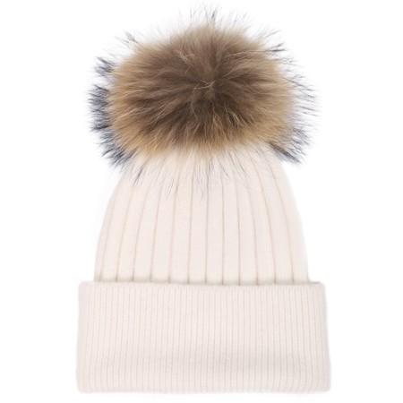Bitz of Glitz Jessie Pom Pom Hat  - Off-White