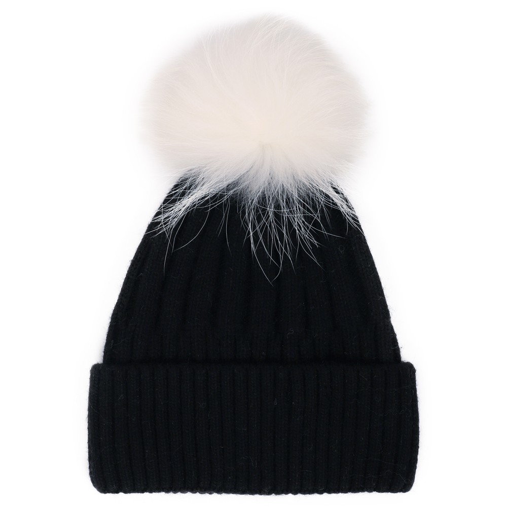 Bitz of Glitz Jessie Pom Pom Hat  Black / White Pom