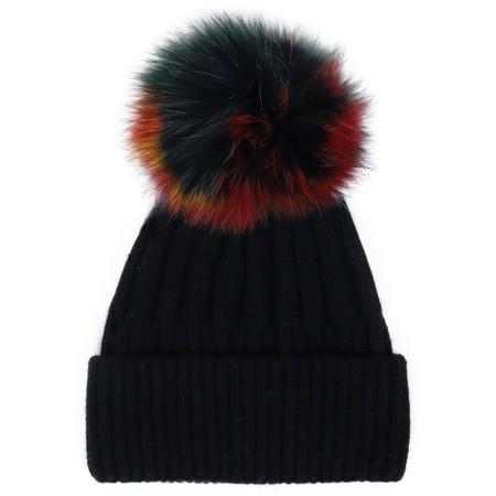 Bitz of Glitz Jessie Pom Pom Hat  - Black
