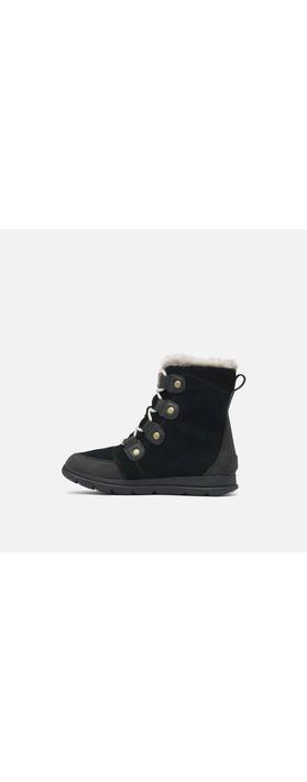 Sorel Explorer Joan Waterproof Boot Black / Dark Stone