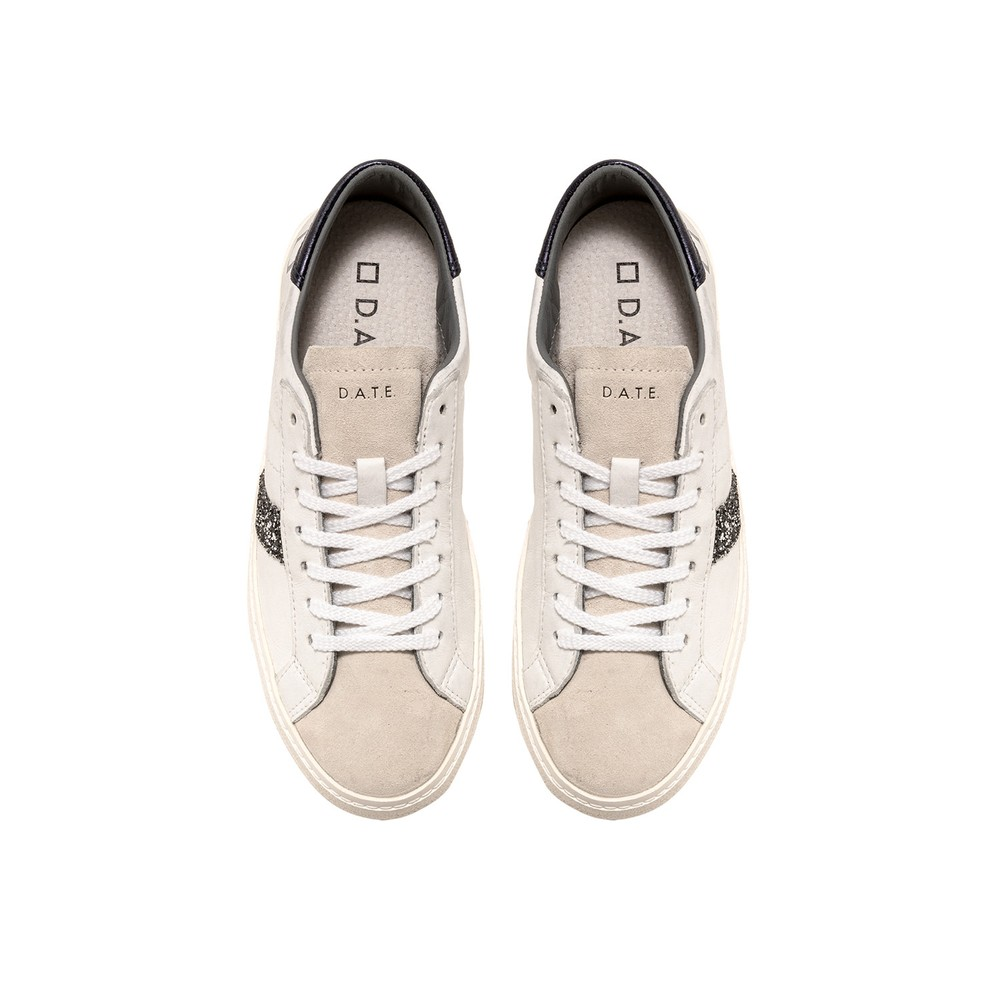 D.A.T.E Hill Low Glam Low Top Sneaker White / Blue