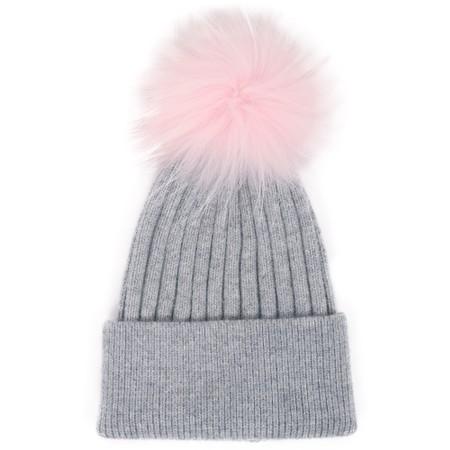 Bitz of Glitz Jessie Pom Pom Hat  - Grey
