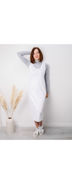 Amazing Woman Britt Fineknit Fitted Polo Neck Jumper Silver Marl