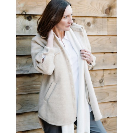 Amazing Woman  Montreux Boiled Wool Shacket - Beige