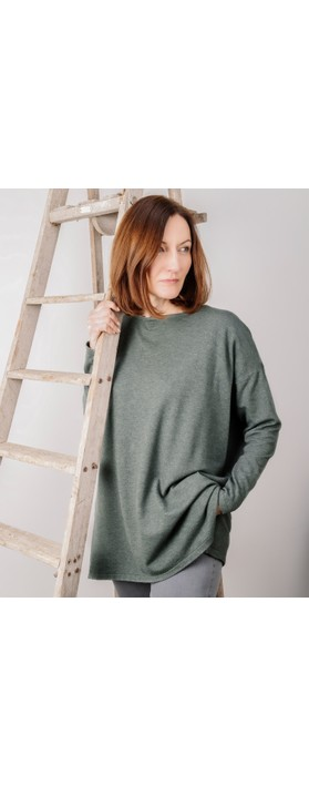 Amazing Woman Wells Round Neck Slouch Knit Khaki