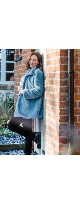 Amazing Woman  Cosy Faux Fur Jacket Denim