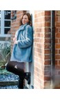 Amazing Woman  Denim Cosy Faux Fur Jacket