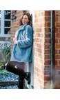 Robell Black  Bella  Black Needlecord Full Length Trouser