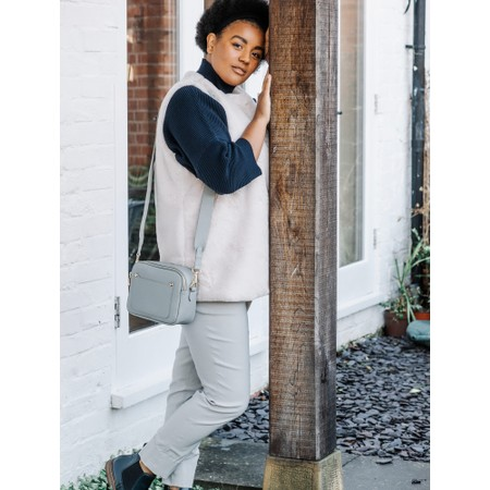 Robell  Bella 09 Light Stone Grey Ankle Length Crop Cuff Trouser - Grey