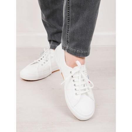 Superga 2750 Efglu White Classic Leather Trainer - White